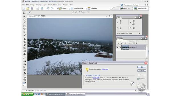 Remove Color Cast Command: Photoshop Elements 3 Essential Training