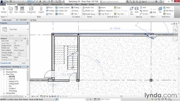 Visualizing a wall layout using sketches: Revit for Interior Design: Interior Walls