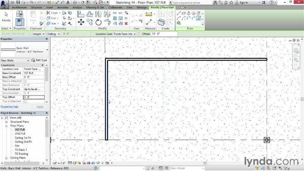 Sketching walls with precision: Revit for Interior Design: Interior Walls
