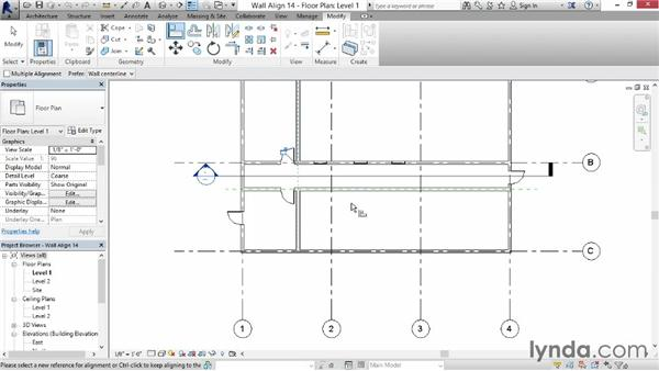 Aligning walls: Revit for Interior Design: Interior Walls