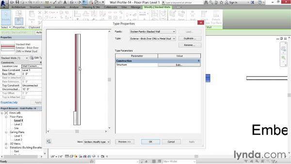 Editing a wall's profile: Revit for Interior Design: Interior Walls
