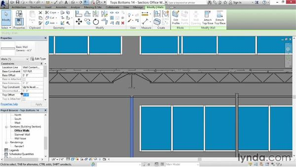 Attaching tops and bottoms: Revit for Interior Design: Interior Walls