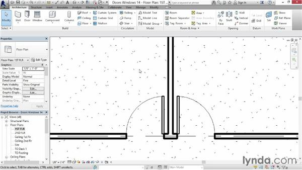 Adding doors and windows: Revit for Interior Design: Interior Walls