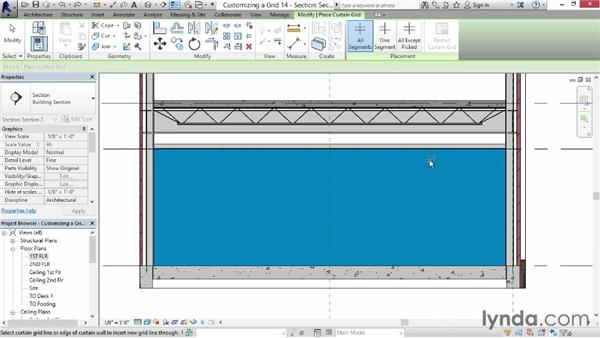 Creating a customized grid for a wall: Revit for Interior Design: Interior Walls
