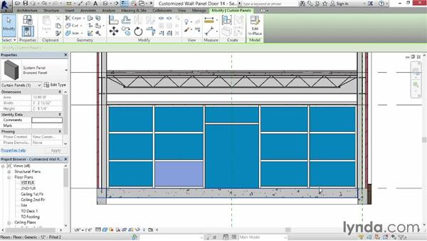 Creating a customized wall panel or door: Revit for Interior Design: Interior Walls