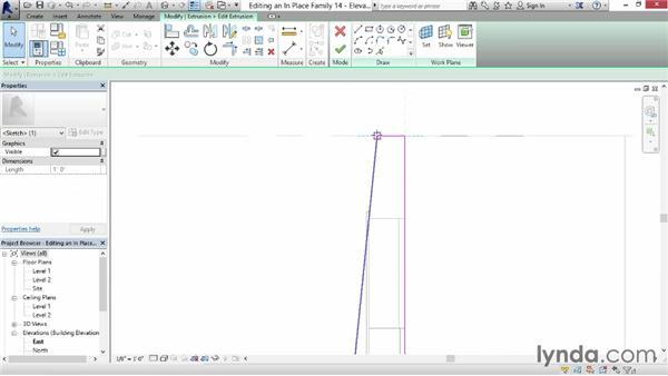 Editing in-place families: Revit for Interior Design: Interior Walls