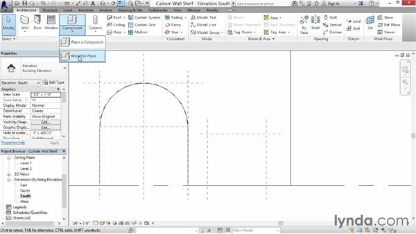 Making a wall-mounted shelf: Revit for Interior Design: Interior Walls