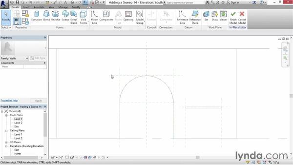 Creating a custom door trim sweep: Revit for Interior Design: Interior Walls
