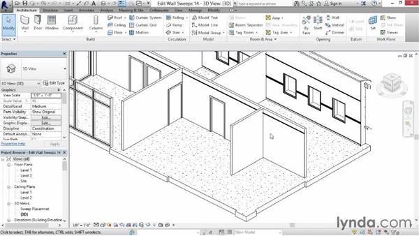 Modifying and hiding elements: Revit for Interior Design: Interior Walls