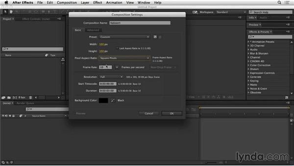 Creating the composition and preloader in After Effects: Web Motion for Beginners: Create a Preloader