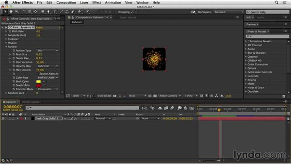 Adding the particles in After Effects: Web Motion for Beginners: Create a Preloader