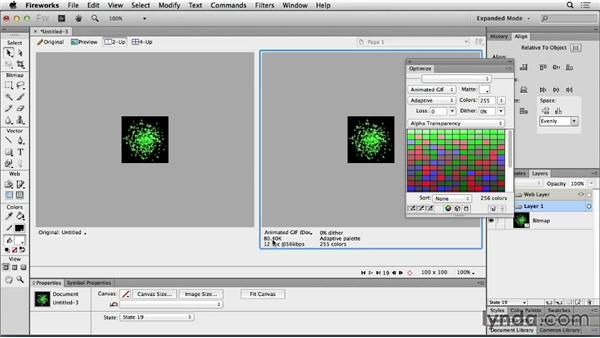 Animated GIF creation in Fireworks: Web Motion for Beginners: Create a Preloader