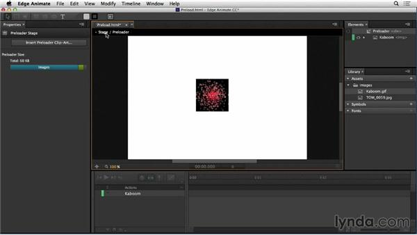 Assembly in Edge Animate: Web Motion for Beginners: Create a Preloader