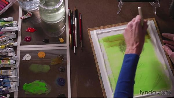 Establishing shape: Artist at Work: Color as Shape