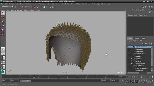 Tuning the Nucleus solver: Creating Hair with Maya nHair