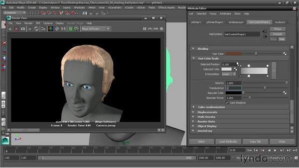 Shading the hairSystem: Creating Hair with Maya nHair