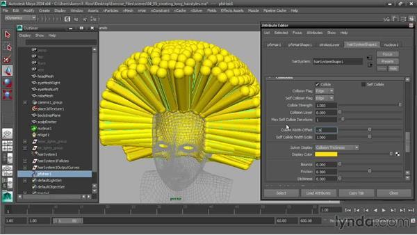 Creating long hairstyles: Creating Hair with Maya nHair