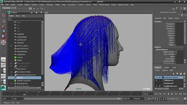 Applying nConstraints: Creating Hair with Maya nHair