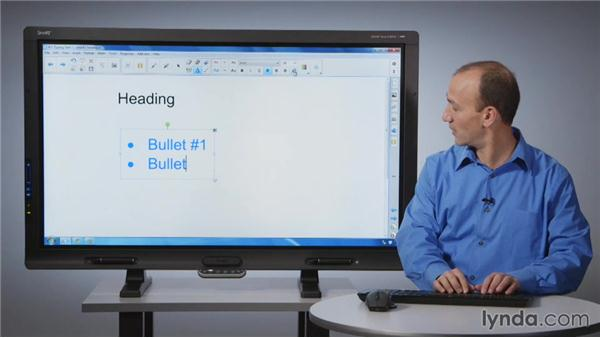 Typing text: SMART Board Essential Training