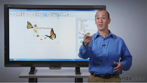 Grouping objects: SMART Board Essential Training