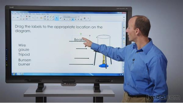 Locking objects: SMART Board Essential Training