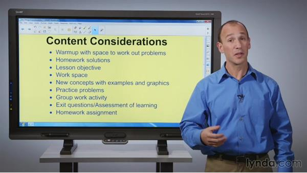 Design considerations: SMART Board Essential Training