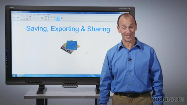 Saving, exporting, and sharing SMART Notebook files: SMART Board Essential Training