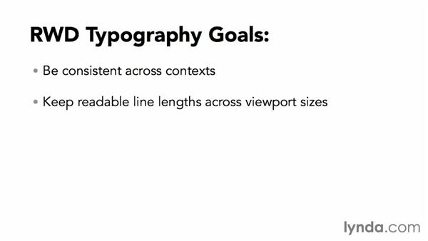 Exploring the goals of typography and responsive design: Responsive Typography Techniques