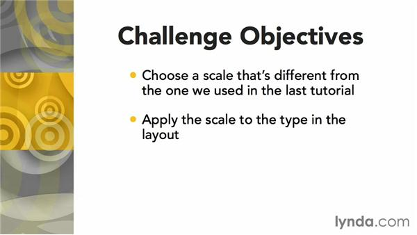 Challenge: Select and apply a different scale: Responsive Typography Techniques