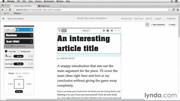 Previewing web type choices with the Typecast app: Responsive Typography Techniques