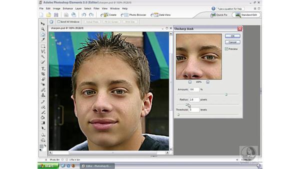 Unsharp Mask: Photoshop Elements 3 Essential Training