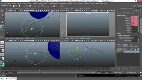 Animating a camera to follow: VFX Techniques: Space Scene 01: Maya Animation and Dynamic Simulation