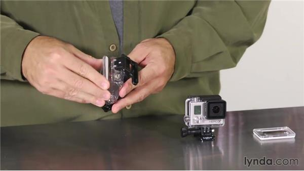 Removing the camera from its case: Shooting with the GoPro HERO: Fundamentals