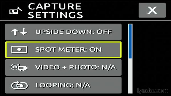 Using the spot meter on a GoPro3 or 3+: Shooting with the GoPro HERO: Fundamentals