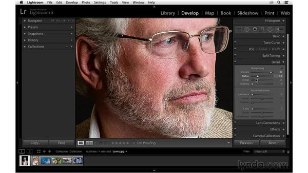 Understanding how the Lightroom Detail controls work: Photoshop CC for Photographers: Sharpening