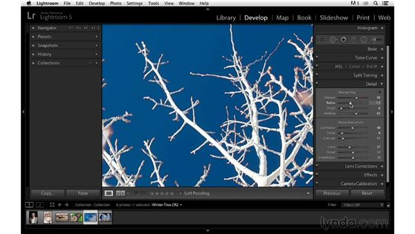 Improving sky details and edge sharpening: Photoshop CC for Photographers: Sharpening