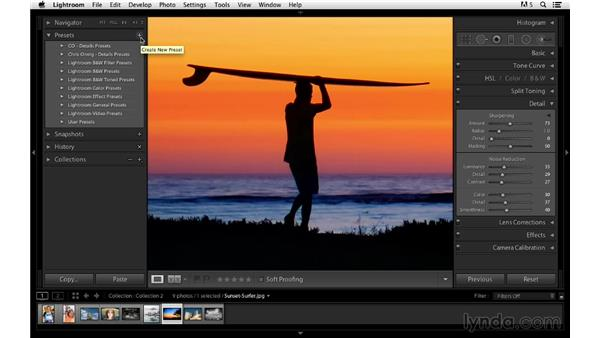 Creating custom presets: Photoshop CC for Photographers: Sharpening