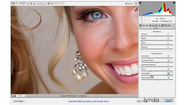 Improving details in a portrait: Photoshop CC for Photographers: Sharpening