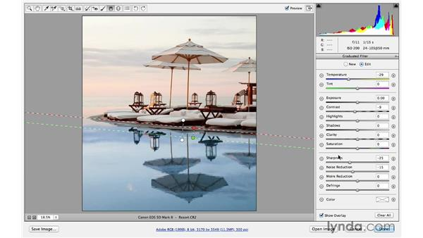 Further refinements with the Graduated filter: Photoshop CC for Photographers: Sharpening