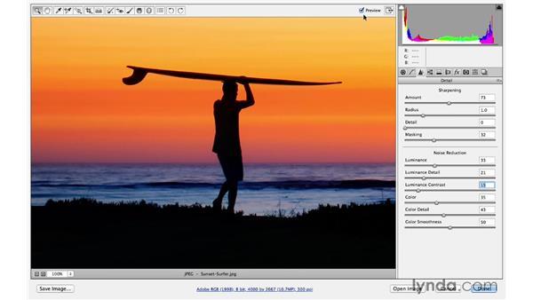 Creating custom presets: Photoshop CC for Photographers: Sharpening