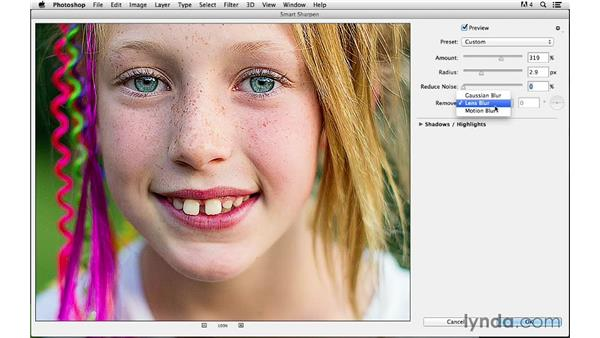 Using Smart Sharpen: Photoshop CC for Photographers: Sharpening