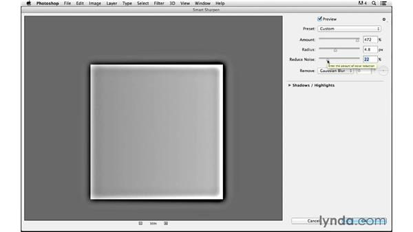 Demonstrating how Smart Sharpen works: Photoshop CC for Photographers: Sharpening