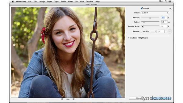 Using smart filtering for increased flexibility: Photoshop CC for Photographers: Sharpening