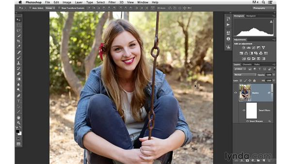 Smart filtering and masking: Photoshop CC for Photographers: Sharpening