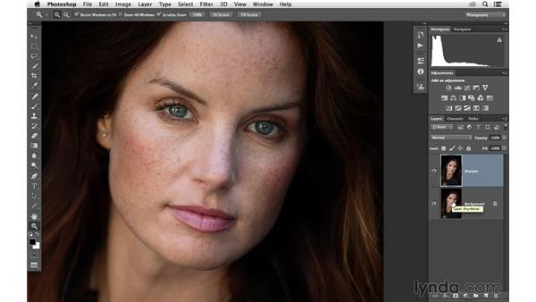 Selective sharpening with a hand-painted mask: Photoshop CC for Photographers: Sharpening