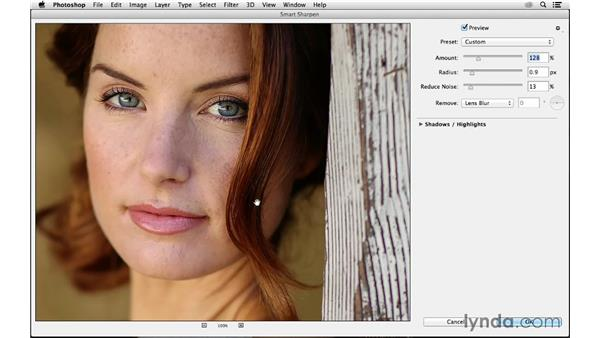 Selective sharpening: Advanced shortcut tips: Photoshop CC for Photographers: Sharpening