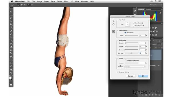 Using Quick Select and masking to sharpen selectively: Photoshop CC for Photographers: Sharpening