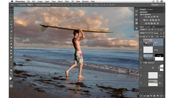 How to sharpen a layered document: Photoshop CC for Photographers: Sharpening