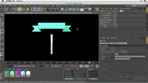 Using Bend deformers: Mograph Techniques: Mixing 2D and 3D with After Effects and CINEMA 4D
