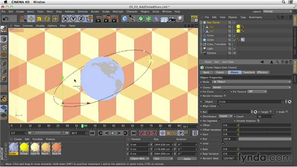 Making a 3D globe animation: Mograph Techniques: Mixing 2D and 3D with After Effects and CINEMA 4D